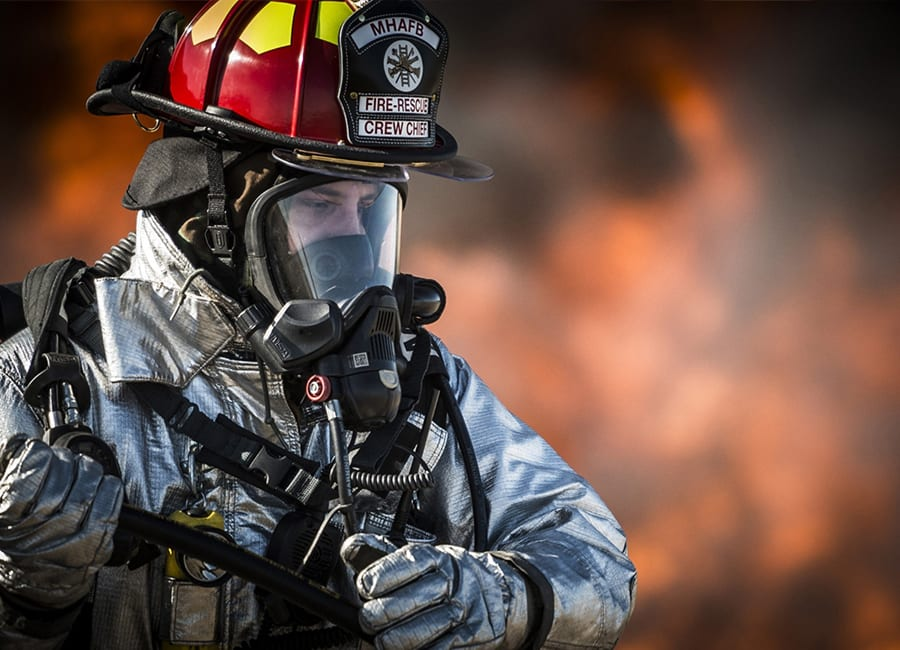 Texas Fire Training student