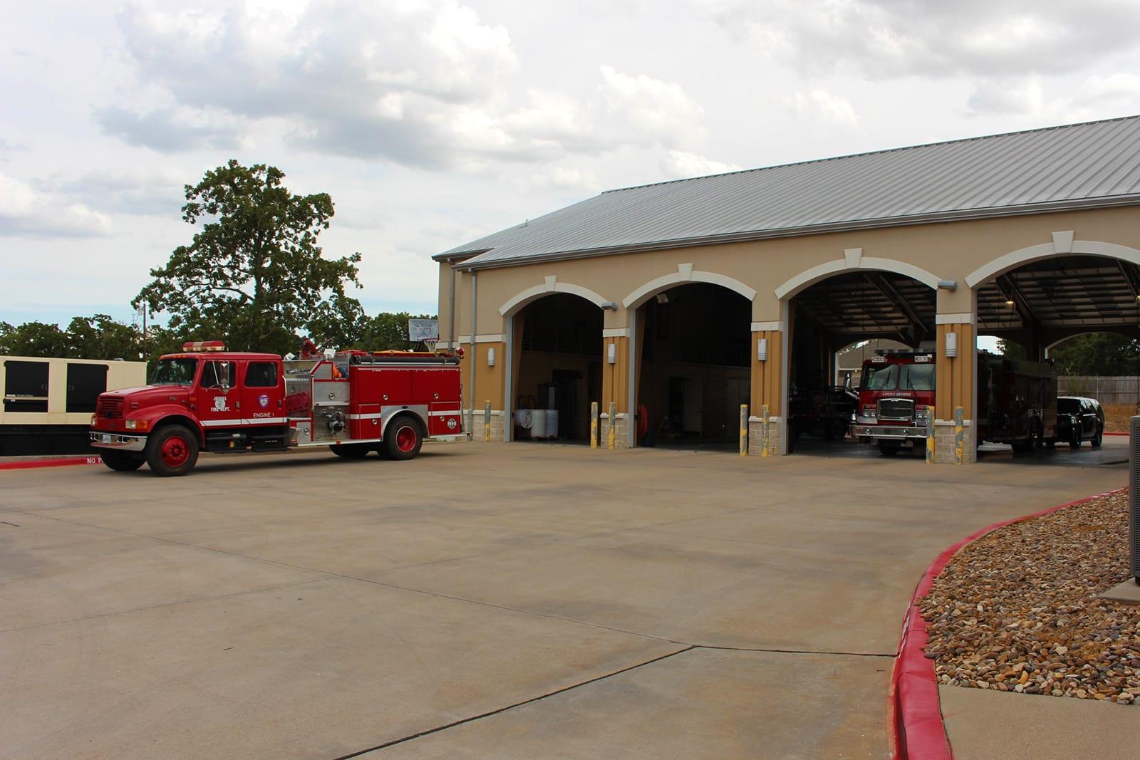 Texas Fire academy trucks