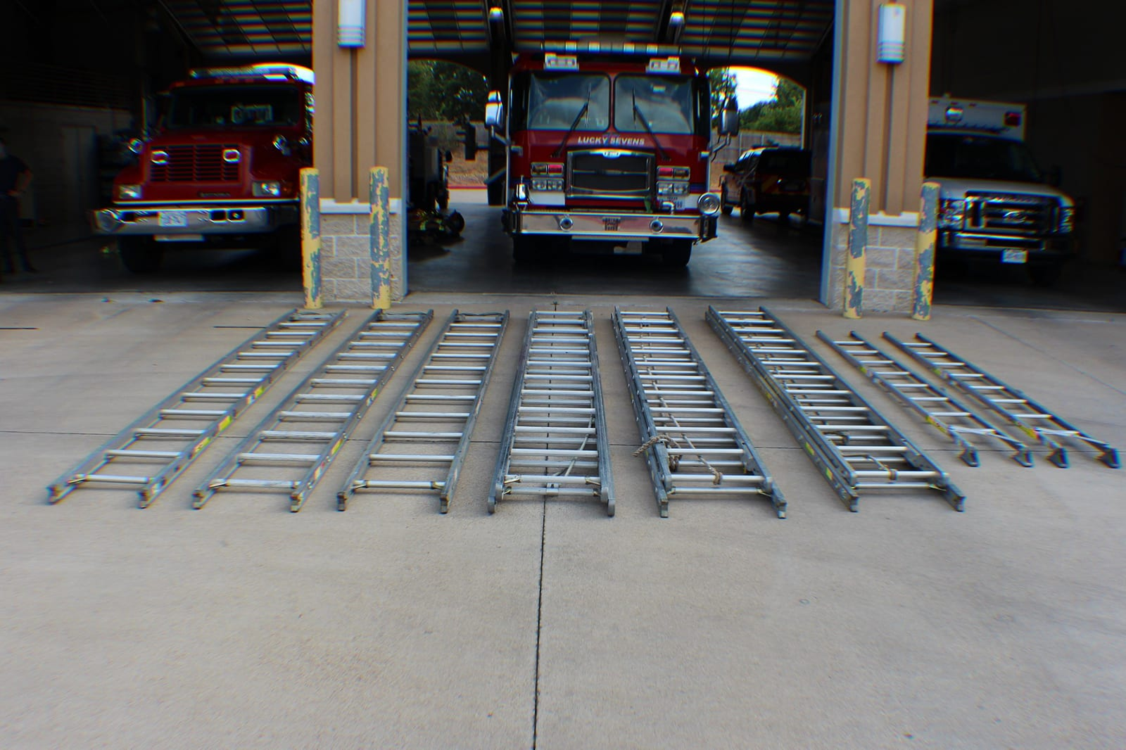 fire academy trucks and ladders